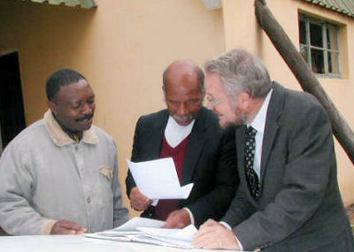 Michael with Bro. Sibiya and Bro. Mngomezulu